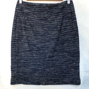 Classic Banana Republic Textured Blue Winter Skirt